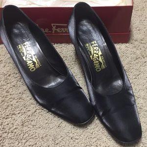Salvadore Ferragamo Black Evening Shoes